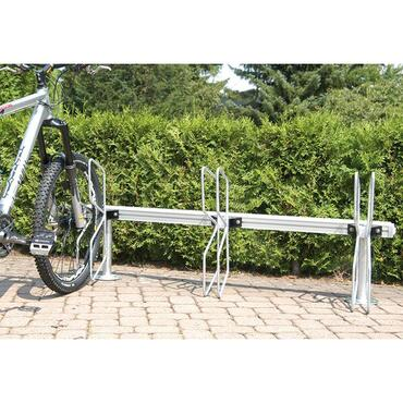 Bicycle rack, fully adjustable module system, Papillon model