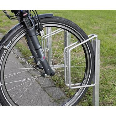 Bicycle rack, frame 90° galvanised, for concreting in