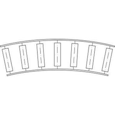 Bocht 90° voor kleine rollenbaan serie 22210 met kunststof draagrollen