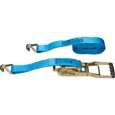 Long lever lashing strap 10m, 50mm 5t, P-hooks