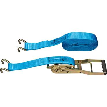 Long lever ratchet lashing strap with two U-RP hooks