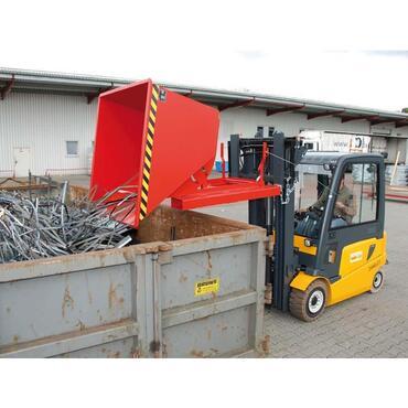 Kiepcontainer met afrolsysteem 0,5cbm,1420x1008x1070 verzinkt