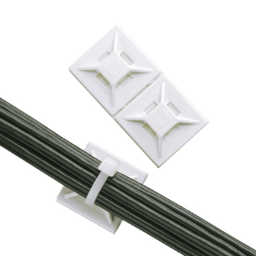 Cable tie mount rubber adhesive backed