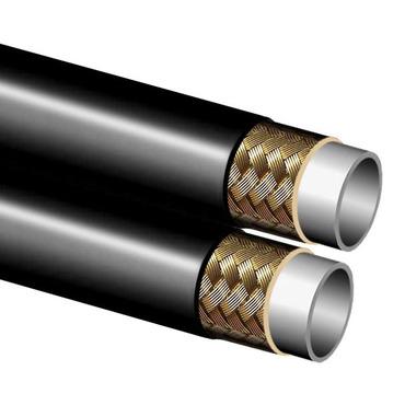 Kunststof slang , 1 staal inlagen, twin versie, pinpricked