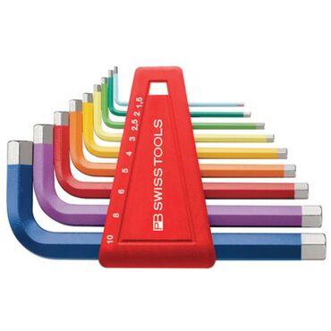 Farbige Inbusschlüsselsätze für Innensechskantschrauben, pulverbeschichtet PB 210H RB