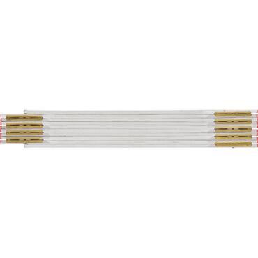 Format Holz-Gliedermaßstab weiß 2mx17mm