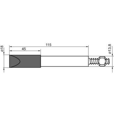 Reserve soldeerpunt beitelvorm