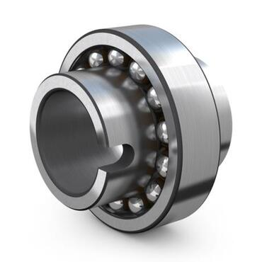Double row self-aligning ball bearing with extended inner ring