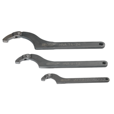 Adjustable hook spanner series HNA