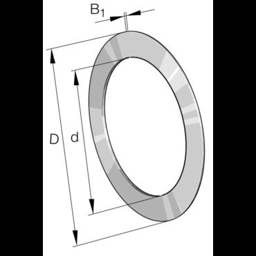 Needle bearing thrust washer series AS