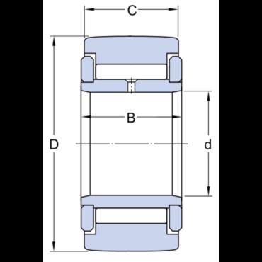 Stützrollen mit Bordringen mit Innenring vollrollig NATV 25