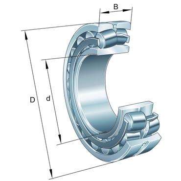 Tweerijig tonlager met cilindrische boring