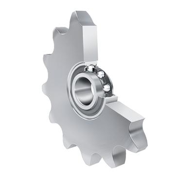 Kettingspanwiel, staal, serie KSR..L0