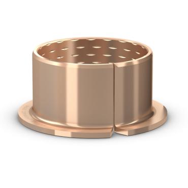 Gerollte Bronze-Gleitlagerbuchse mit Bund wartungsarm Serie PRMF