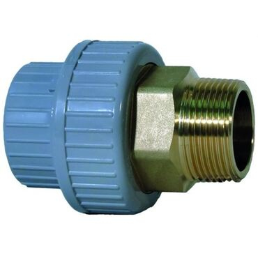 3-way coupling in PVC-C/brass type 550 PN16 metric - cylindrical internal thread BSPP