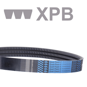 Krachtband Quad-Power® II Powerband® openflank vormvertand smalprofiel XPB