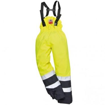Yellow/navy S782 rain trousers