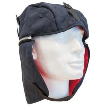 Detachable winter hat, for use under protective helmet