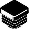 Bouchon PE carre noir  30x30