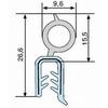 Klembandprofiel EPDM/staal/sponsrubber zwart 2599 L=2x50m