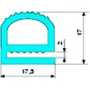 E-profiel silicone-THT volrubber 60 roodbruin S-158 L=25m