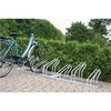Bicycle rack, frame, one-sided L105mm 3 bicycle parking points, galvanised