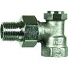Radiatorvoetventiel fig. 1564 brons haaks staartstuk/binnendraad
