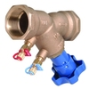 "Inregelafsluiter fig. 2612E brons/PTFE vul/aftap PN25 1/2"" BSPP"
