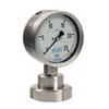 Buisveermanometer fig. 39061 roestvaststaal scheidingsmembraan DIN 11851 onderaansluiting