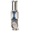 Plaatafsluiter fig. 5412 roestvaststaal/EPDM pneumatisch bediend PN10 DN50