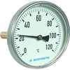 Bimetaal thermometer fig. 661 aluminium/messing of roestvaststaal insteek