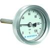 Bimetalthermometer Fig. 693 Aluminium/Fensterglas Einstecklänge Edelstahl 45mm R63 30-50°C