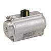 """Pneumatische aandrijving fig. 79025 serie DA45 roestvaststaal maat topflens F03/F05 afmeting vierkant DSQ11mm 1/4""""BSP"""