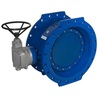 Butterfly valve fig. 21172 ductile iron KIWA double-eccentric gearbox long face to face length flanged