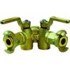 Double robinet pour air comprimé fig.775 fonte taraudé/raccordement à pinces
