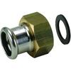 Systeemkoppeling fig. 3332KE brons voor KIWA inregelafsluiter wartel/perskoppeling Geberit Mapress