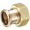 Systeemkoppeling fig. 3332KF brons voor KIWA inregelafsluiter wartel/perskoppeling Geberit Mapress