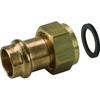 Systeemkoppeling fig. 3332KH brons voor KIWA inregelafsluiter wartel/perskoppeling Viega Sanpress en Profipress