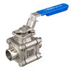 Premium ball valve fig. 7642 stainless steel butt weld B16.25 S40