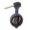 Butterfly valve fig. 718MH cast iron nodular replacable lining lever centric wafer type Class  150