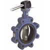 Butterfly valve fig. 719MH cast iron nodular/stainless steel lever lugtype
