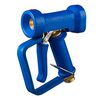 "Wash down gun DINGA blue in brass 1/2"" including trigger protection"