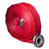 Hose Gamma Extra Red, SBR lay flat fire and water hose including aluminum Storz couplings