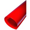 Lamelles en PVC souple rouge transparent