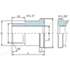 SAE flens lasadapter voor metrische buis SFS
