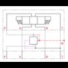 Stalen huis voor inschroefpatronen NG6 DMVZ-06S-P-00-0/00