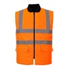 Body warmer reversible hi-visisibility S469 orange size S