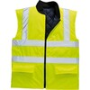 Body warmer reversible hi-visisibility S469 yellow size S