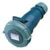 Blue AM-TOP® Plug with Cable Gland 2P+E (6H) IP44 16A 230V