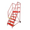 H/Duty 10 Tread Stl Warehouse Mobile Step (Punched Tread)